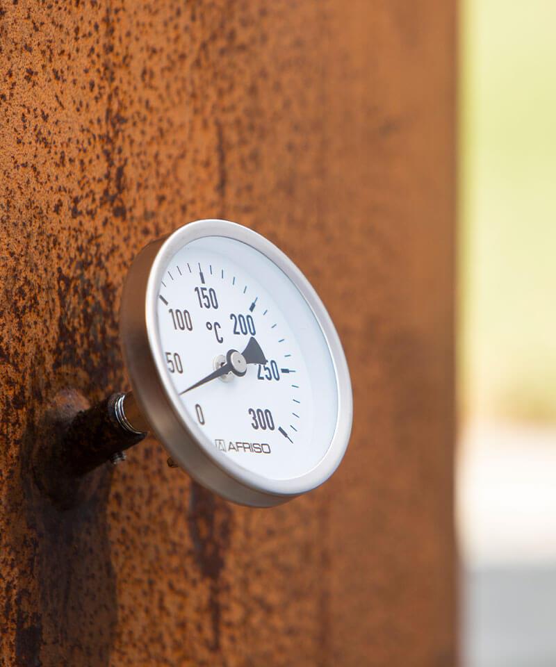 Thermometer für den Feuertopf